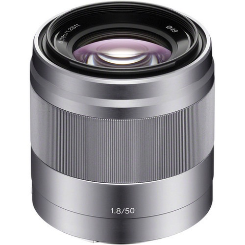 Sony E 50mm f/1.8 OSS Lens (Silver) - B&C Camera - 1