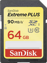 SanDisk 64GB Extreme SDHC Memory Card 90MB/s