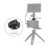 "SmallRig Rotatable Cold Shoe Mount Adapter (Two 1/4""-20 Screws)"