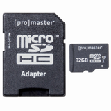 Promaster 32GB High Speed microSDHC 660X Memory Card with SD Card Adapter - B&C Camera