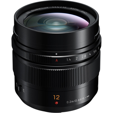 Panasonic Leica DG Summilux 12mm f/1.4 ASPH. Lens by Panasonic at B&C Camera