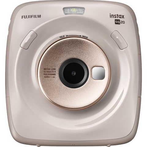 FUJIFILM INSTAX SQUARE SQ20 Hybrid Instant Camera (Beige) by Fujifilm at B&C Camera