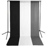 Savage Economy Background Kit 5x9' (White, Black, and Gray Backdrops) by Savage at B&C Camera