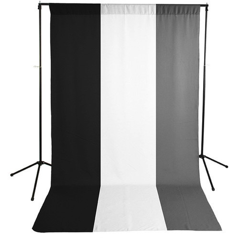Savage Economy Background Kit 5x9' (White, Black, and Gray Backdrops) by Savage at bandccamera