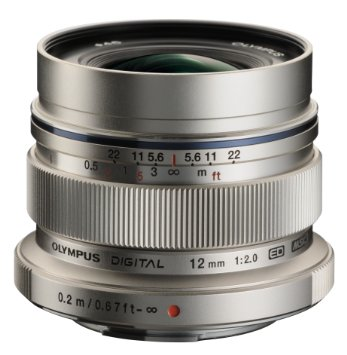 Olympus M.Zuiko Digital ED 12mm f/2.0 Lens (Silver) by Olympus at B&C Camera