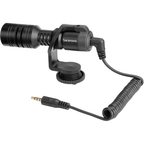 Saramonic Mini Shotgun Microphone for DSLR,Mirrorless,Video Cameras,Smartphones, and Tablets by Saramonic at B&C Camera