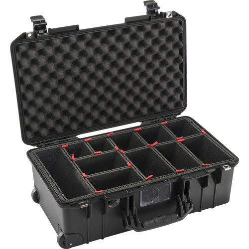 Pelican 1535Air Carry-On Case with TrekPak Dividers (Black)