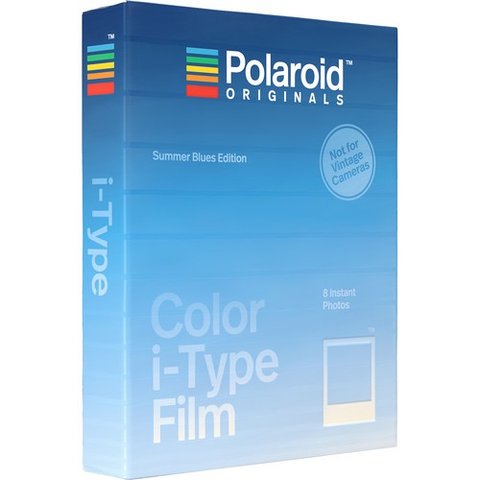 Polaroid Originals Color i-Type Instant Film (Summer Blues Edition, 8 Exposures) by Polaroid at B&C Camera