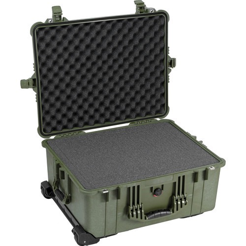 Pelican 1610 Case with Foam (Olive Drab Green)
