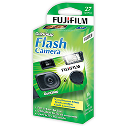 Fujifilm QuickSnap Flash 400 35mm One-Time-Use Camera - 27 Exposures - B&C Camera