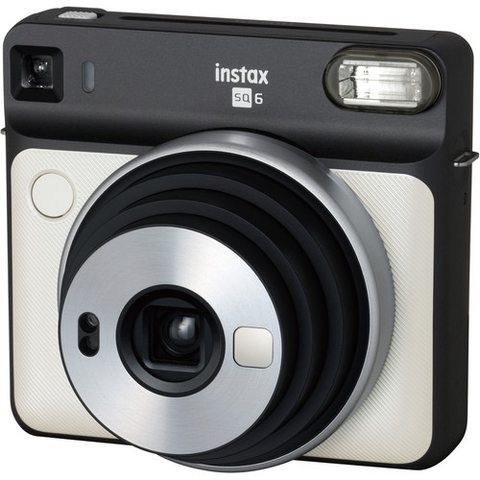 Fujifilm INSTAX SQUARE SQ6 Instant Film Camera (Pearl White) by Fujifilm at B&C Camera