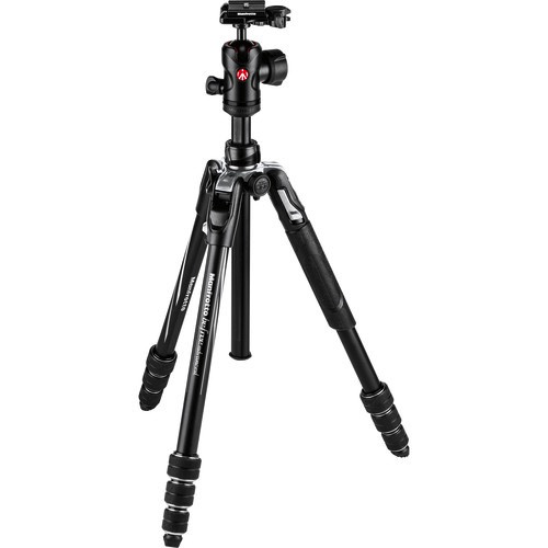 Manfrotto Befree Advanced Travel Aluminum Tripod with Ball Head (Twist Locks, Black) by Manfrotto at bandccamera
