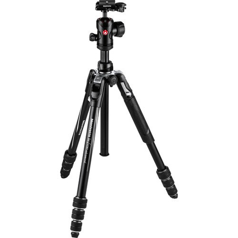 Manfrotto Befree Advanced Travel Aluminum Tripod with Ball Head (Twist Locks, Black) by Manfrotto at B&C Camera