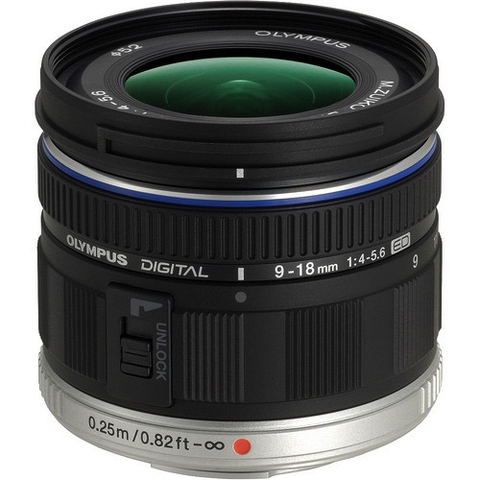 Olympus M.Zuiko Digital ED 9-18mm f/4.0-5.6 Lens by Olympus at B&C Camera