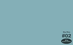 "Savage Widetone Seamless Background Paper (SKY BLUE, 86"" x 12yd)"