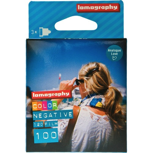Lomography 100 Color Negative Film (120 Roll, 3 Pack) - B&C Camera