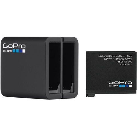 GoPro Dual Battery Charger + Battery AHBBP-401 for HERO4 - B&C Camera - 1