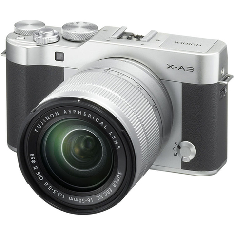 Fujifilm X-A3 Camera and Lens Kit - Silver