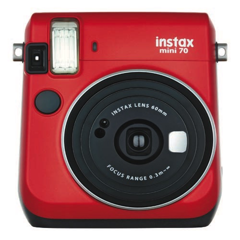 FujiFilm Instax Mini 70 Instant Camera - Red by Fujifilm at bandccamera
