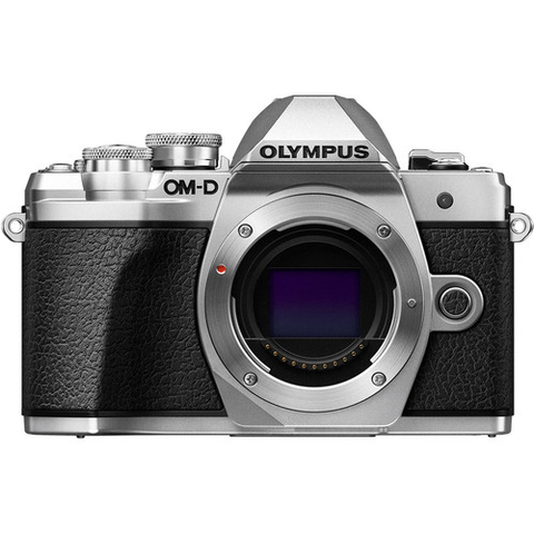 Olympus OM-D E-M10 Mark III Mirrorless Micro Four Thirds Digital Camera Body Only - Silver by Olympus at bandccamera