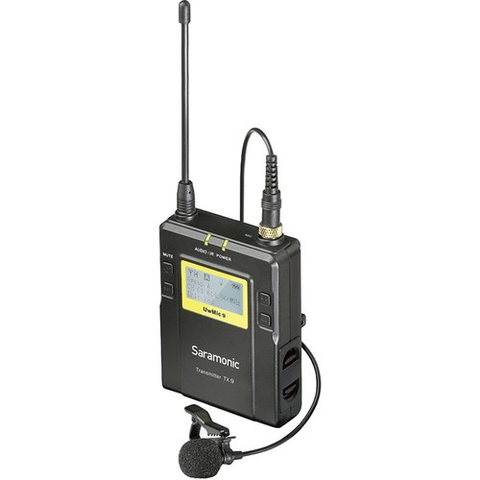 Saramonic TX9 96-Channel Digital UHF Wireless Bodypack Transmitter with Lavalier Mic (514 to 596 MHz) by Saramonic at B&C Camera