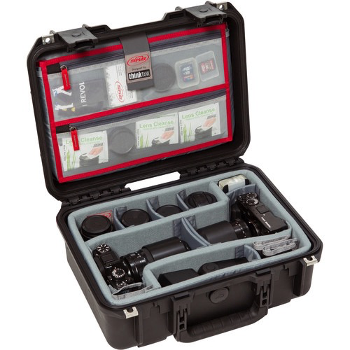 SKB iSeries 1510-6 Case w/Think Tank Designed Photo Dividers & Lid Organizer (Black) by SKB at B&C Camera