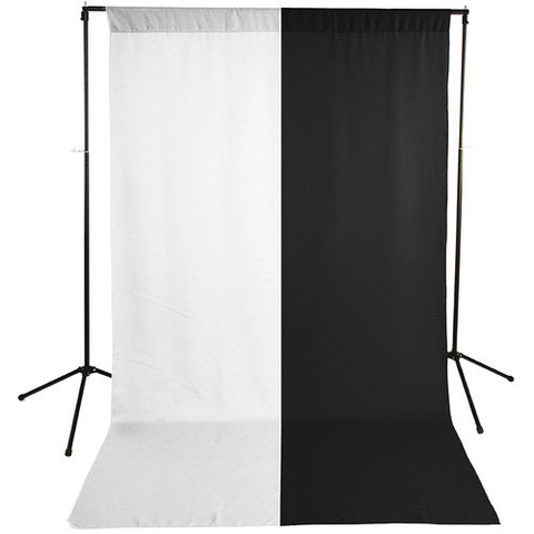 Savage Economy Background Kit 5x9' (White and Black Backdrops) by Savage at B&C Camera