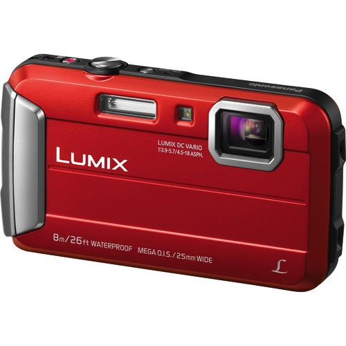 Panasonic Lumix DMC-TS30 Digital Camera (Red) by Panasonic at bandccamera