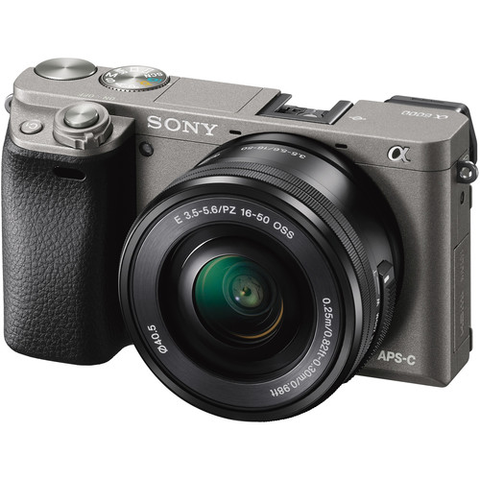 Sony Alpha a6000 Mirrorless Digital Camera with 16-50mm Lens (Graphite) by Sony at bandccamera