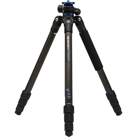 Benro FGP28C Go Plus 4-Section Carbon Fiber Travel Tripod by Benro at bandccamera