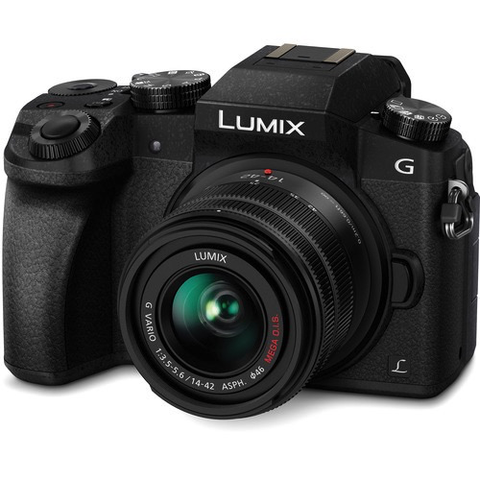 Panasonic Lumix DMC-G7 Mirrorless Micro Four Thirds Digital Camera with 14-42mm Lens (Black) by Panasonic at B&C Camera