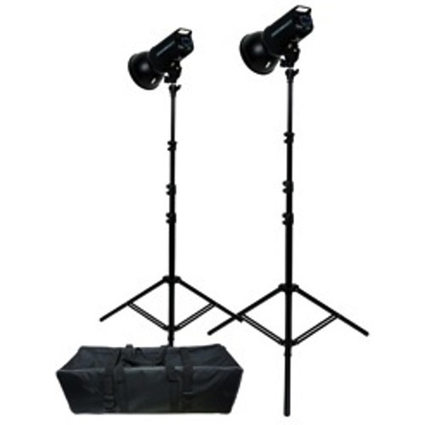 Promaster PL400 Advanced LCD Control 2-Light Studio Kit by Promaster at B&C Camera