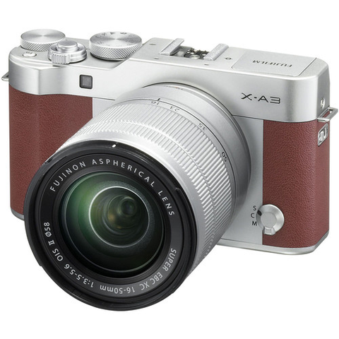 X-A3 Camera and Lens Kit - Brown by Fujifilm at bandccamera