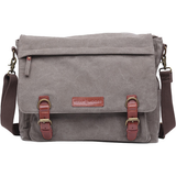 Kelly Moore Bag - Kate Messenger Bag - Sand Canvas with Brown Trim - B&C Camera