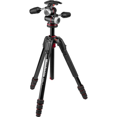 Manfrotto 190go! Aluminum M-Series Tripod with MHXPRO-3W 3-Way Pan/Tilt Head by Manfrotto at bandccamera