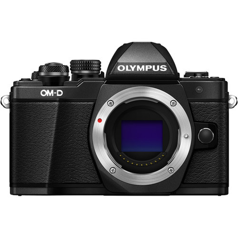 Olympus OM-D E-M10 Mark II Mirrorless Micro Four Thirds Digital Camera Body (Black) - B&C Camera