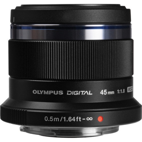 Olympus M.Zuiko Digital ED 45mm f/1.8 Lens (Black) - B&C Camera