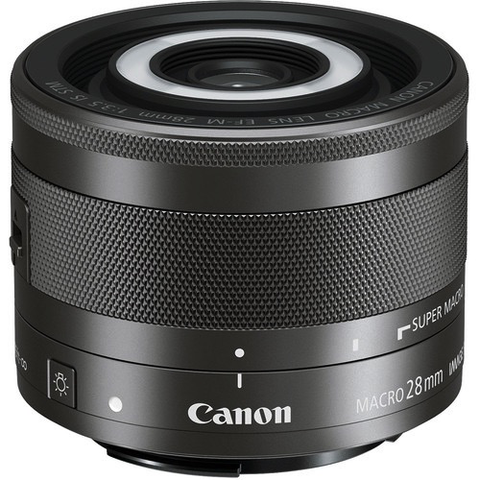 Canon EF-M 28mm f/3.5 Macro IS STM Lens by Canon at bandccamera