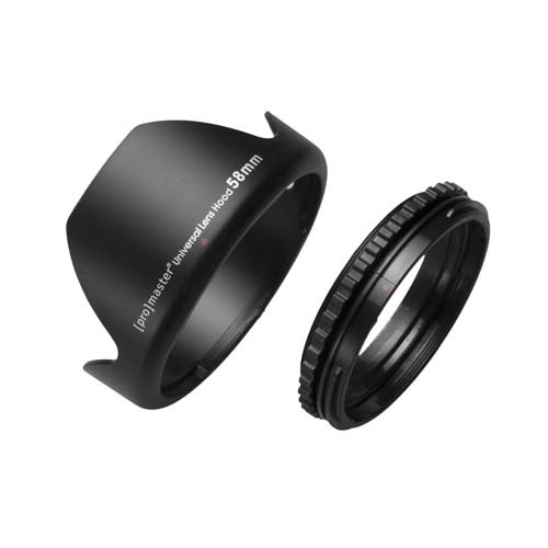Promaster 58mm Universal Lens Hood at B&C Camera