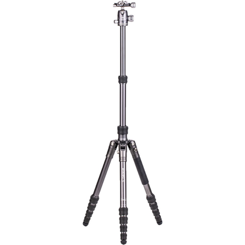 Benro Bat Aluminum One Series Travel Tripod/Monopod with VX20 Ballhead, 5 Leg Sections, Twist Leg Locks, Padded Carrying Case