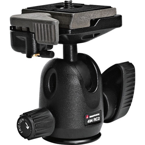 Manfrotto 494 Mini Ball Head with RC2 Quick Release - B&C Camera - 1