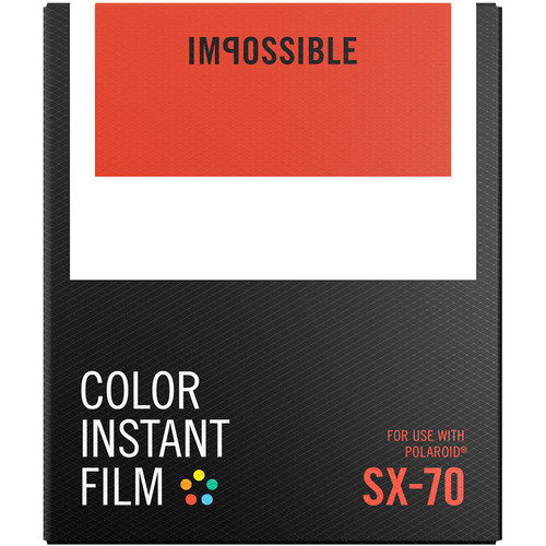 Polaroid Impossible Color Instant Film for SX-70 (White Frame, 8 Exposures) - B&C Camera