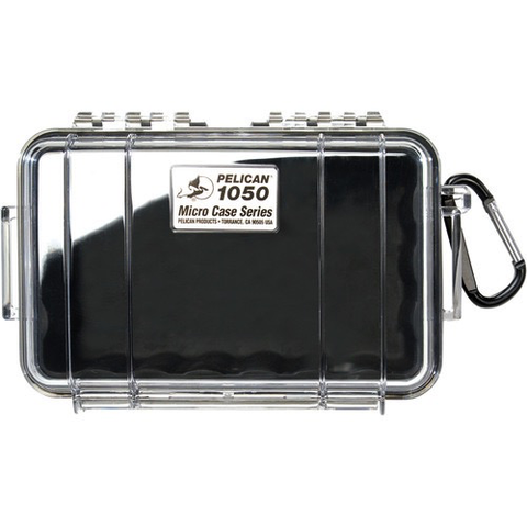 Pelican 1050 Micro Case (Clear/Black) - B&C Camera