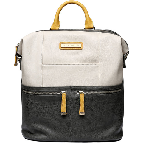 Kelly Moore  Woodstock Backpack (Bone Colorblock) by Kelly Moore at bandccamera