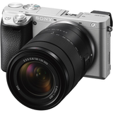 Sony Alpha a6300 Mirrorless Digital Camera with 18-135mm Lens (Silver) by Sony at bandccamera