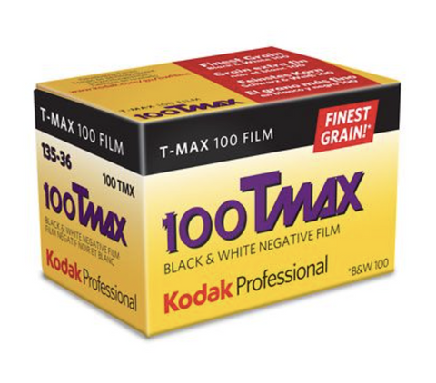 Kodak Professional T-Max 100 Black & White Negative Film (35mm Roll, 36 Exp)
