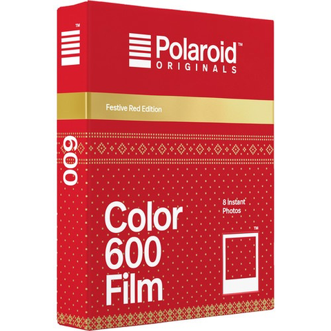 Polaroid Originals Color 600 Instant Film (Festive Red Edition, 8 Exposures)