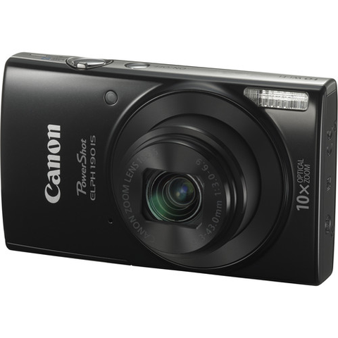 Canon PowerShot ELPH 190 IS Digital Camera (Black) by Canon at bandccamera