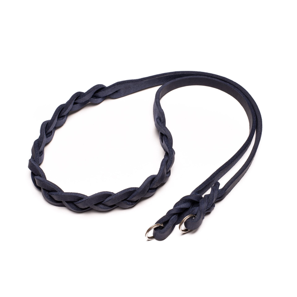 One-Piece Leather Strap Navy
