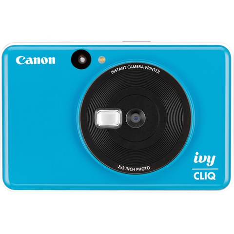 Canon IVY CLIQ Instant Camera Printer (Seaside Blue) by Canon at B&C Camera